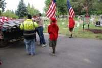 Fair Oaks Cemetery-Avenue of Flags 0068