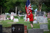 Fair Oaks Cemetery-Avenue of Flags 0072
