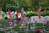 Fair Oaks Cemetery-Avenue of Flags 0073
