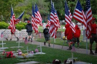 Fair Oaks Cemetery-Avenue of Flags 0074