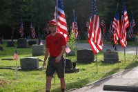 Fair Oaks Cemetery-Avenue of Flags 0078