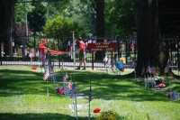 Fair Oaks Cemetery-Avenue of Flags 0087