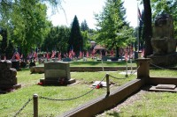 Fair Oaks Cemetery-Avenue of Flags 0091