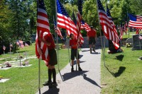 Fair Oaks Cemetery-Avenue of Flags 0093